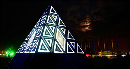 Image of Glade Festival pyramid stage