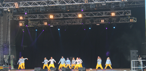 Street 13 dance crew at Guilfest