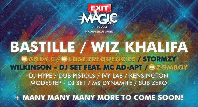 Exit Adventure adds Wiz Khalifa, Bastille, Stormzy and Lost Frequencies to the bill