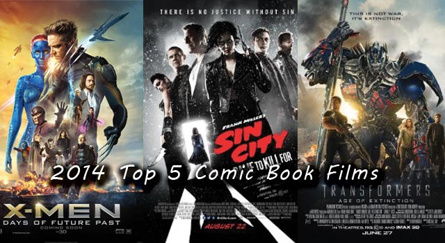Top 5 Comic Book Films of 2014