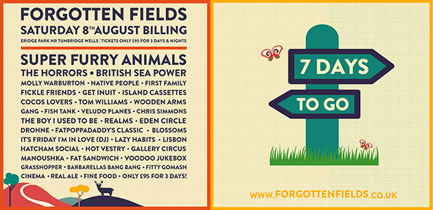 LESS THAN A WEEK TO GO UNTIL THE INAUGURAL FORGOTTEN FIELDS FESTIVAL
