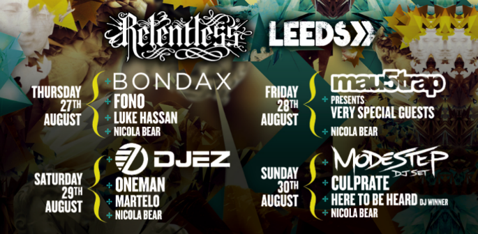 THE RELENTLESS STAGE AT LEEDS FESTIVAL 2015