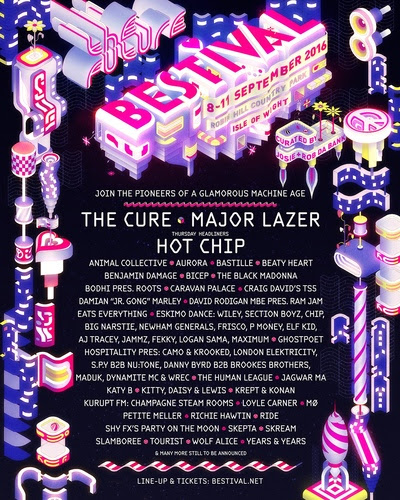 THE CURE, MAJOR LAZER, HOT CHIP