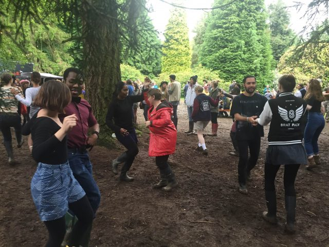 Swing dancing at Camp Wildfire